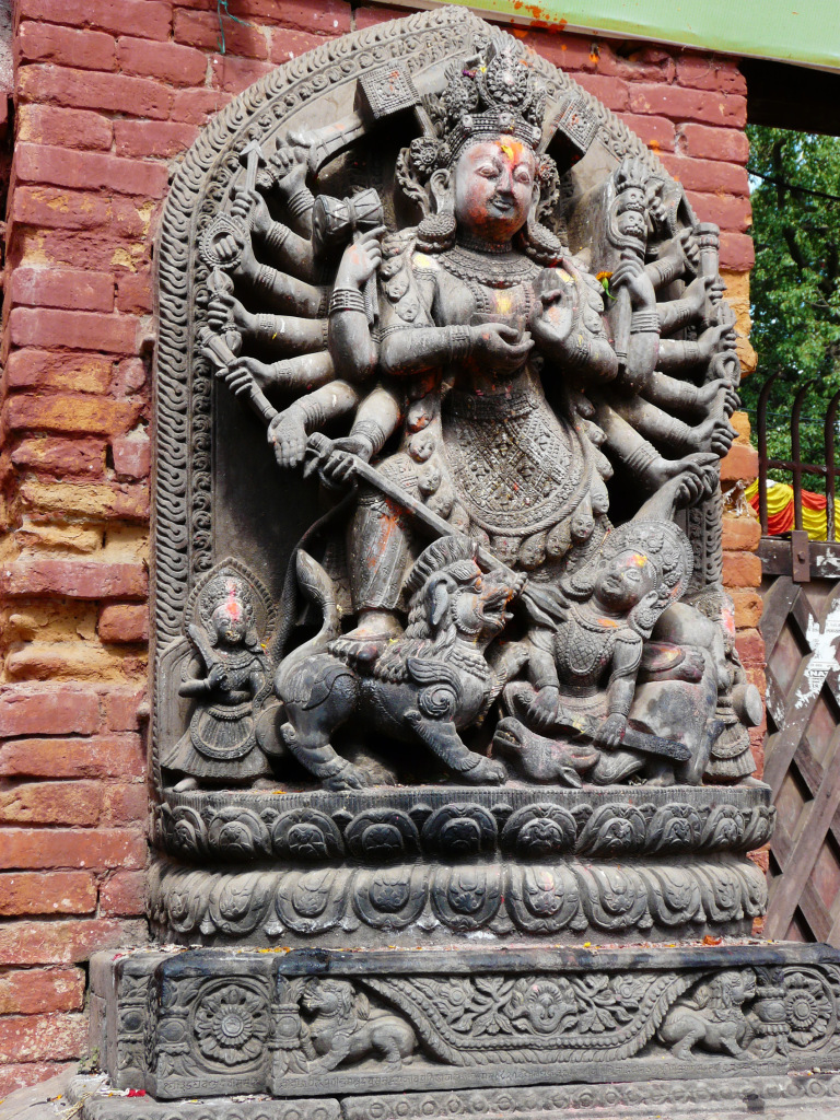 Ancient statue of Bhairava, god of terror and death