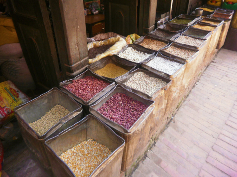 local beans sold in the market
