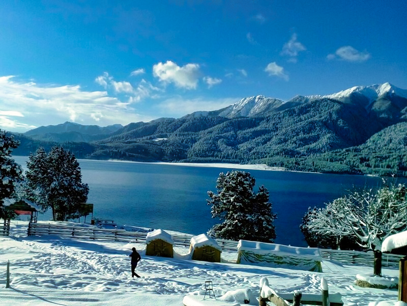 white snow at Rara Lake