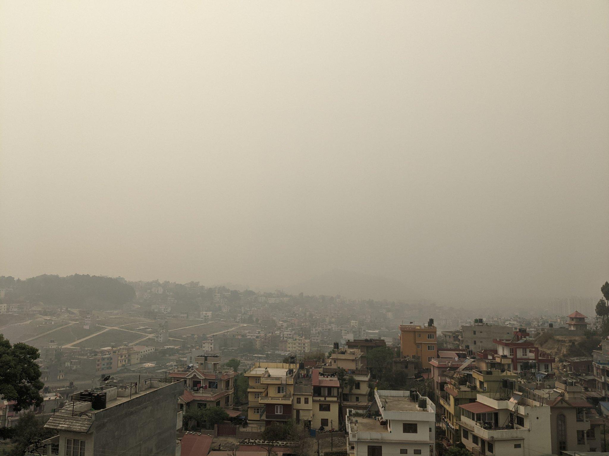 pollution in kathmandu