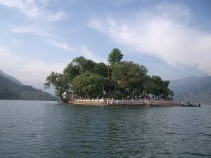 Relaxing at the lakeside in Pokhara
