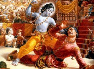 Krishna defeats King Kansa